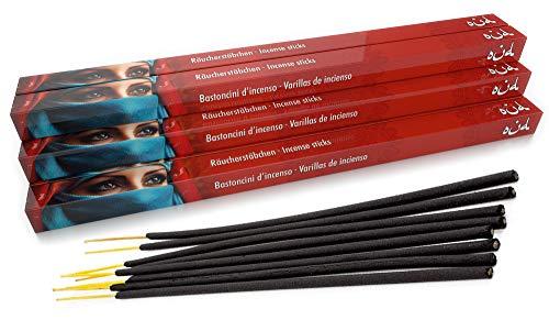 Luxflair Lot de 10 paquets de 8 bâtonnets d'encens Oud/Oudh XL - Longue durée de combustion d'environ 45 minutes