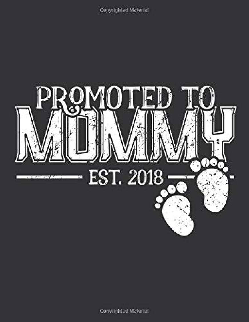 失われた簡単に未亡人Notebook: Promoted to Mommy Pregnancy Announcement Journal & Doodle Diary; 120 Squared Grid Pages for Writing and Drawing - 8.5x11 in.
