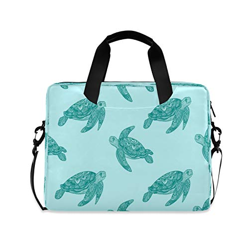 Computer Carrying Case for Adult Kids Laptop Bag Sea Turtle Computer Bags 13-15.6 inch Laptop Sleeve Case Laptop Shoulder Bag Laptop Carrying Bag with Strap Handle