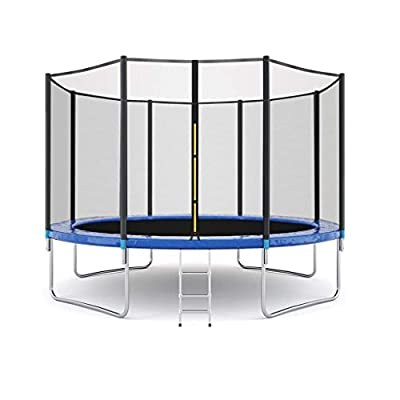 Haxikocty 12 FT Kids Trampoline with Enclosure Net Jumping Mat and Spring Cover Padding Indoor or Outdoor Trampoline (12 FT, Multicolor)