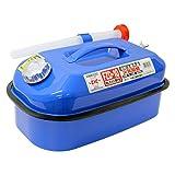 メルテック ガソリン携行缶 10L 消防法適合品 KHK [亜鉛メッキ鋼鈑] 鋼鈑厚み:0.8㎜ 積重ねタイプ ブルー Meltec FZD-10