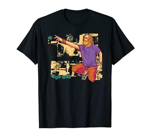 Hombre El jugador de boule lanza el traje de bolas de boulen. Camiseta