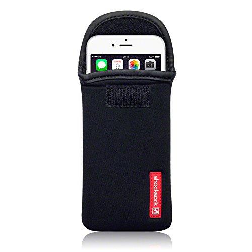 Shocksock, Kompatibel mit iPhone 6S / iPhone 6 Neopren Tasche Hülle - Schwarz EINWEG