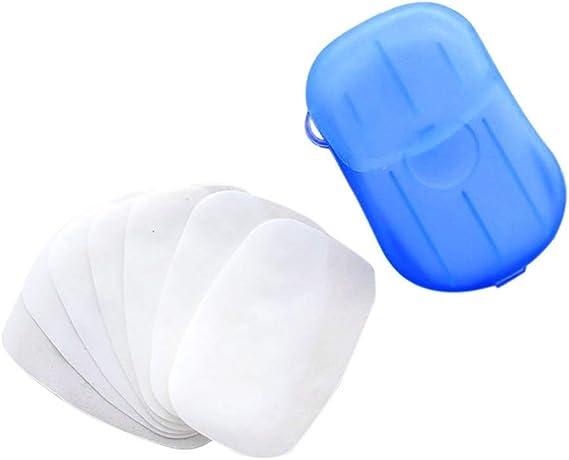 Savon de Poche Couleur Al/éatoire ZoneYan 16x Bo/îtes Savon Jetable Portable Savon en Papier Voyage pour Activit/és de Plein Air Savon Feuille Savonyl Feuilles de Savon Recharge