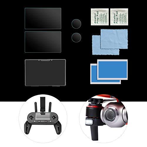 Mobiliarbus 4G Grafikkarte Kompatibel mit Autel EVO II 8K RC Drohnenkamera Objektivschutz Fernbedienung Displayschutzfolie 9H Hochhärte gehärtetes Glas 2 Sets