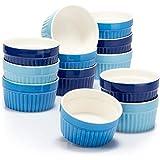 COM-FOUR® 12x stampi per soufflé - ciotole in ceramica creme brulee - stampi da forno - ...