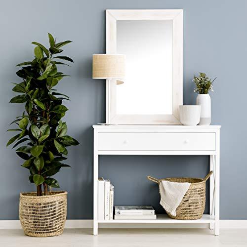 Kenay Home-Consola Mueble Entrada Recibidor Blanco 1 Cajón