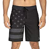 Hurley Men's Phantom Patriot Cheers 20' Board Shorts, Black, 36