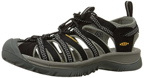 Keen Women's Whisper Black/Neutral Gray Sandal 7 B - Medium