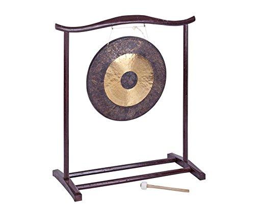 Betzold Musik 84185 - Chinesischer Gong 50 cm groß mit Holzstativ und Schlägel