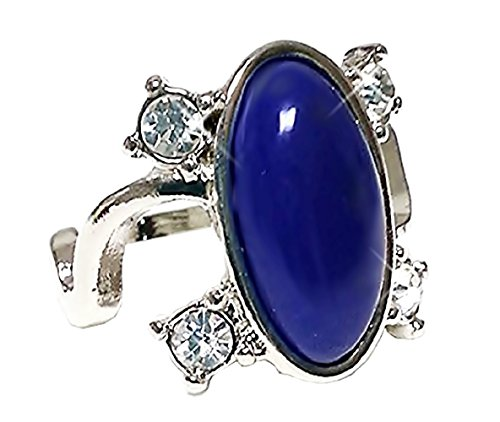 Inception Pro Infinite Lnglbrt - Ring - Elena Gilbert - Silberfarbe - Blauer Stein - TV - Serie - Frau und Mädchen - Tagebuch Eines Vampir Cosplay - Geschenkidee - Vampire Diaries