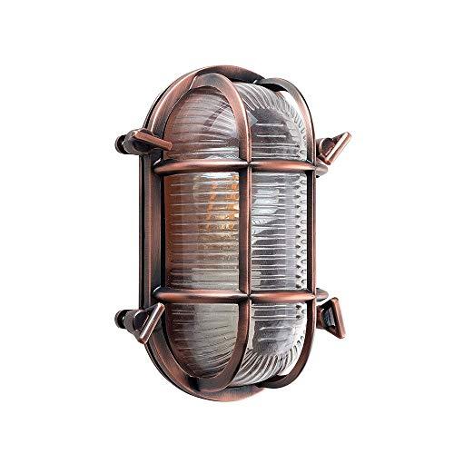 CHENJIA Estilo moderno oval de bronce Efecto náutico de luc