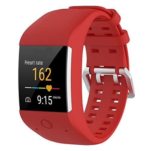 HCTian - Correa para reloj compatible con Polar M600, correa de silicona de repuesto para reloj inteligente