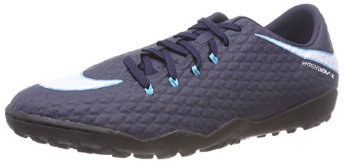 Nike Herren Hypervenomx Phelon III TF Fußballschuhe, Blau (Obsidian/Gamma Blue/Glacier Blue/White 414), 45.5 EU