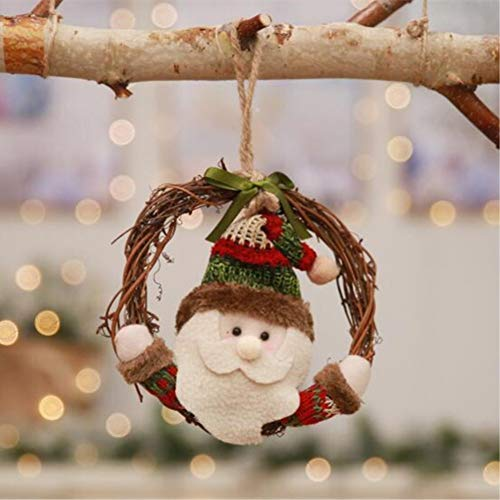 XNBCD rotan krans hanger kerstman pop kerstboom decoratie voor familie partij venster display props gift