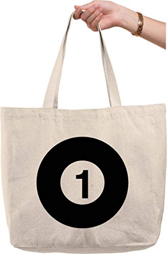 Bold Tote Bags 1 solid ball pool billiards game play stick rack chalk Natural Canvas Tote Bag funny gift
