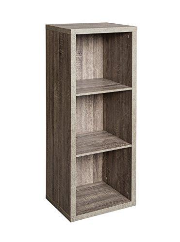 ClosetMaid 1324 Decorative 3-Cube Storage Organizer, Weathered Gray