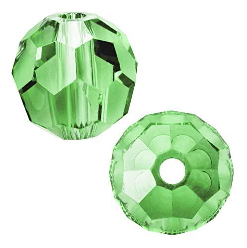 50pcs SWA2Rovski 4mm Small #5000 Round Peridot Green Crystal Beads for Jewelry Craft Making (August Birthstone) SWA2R416