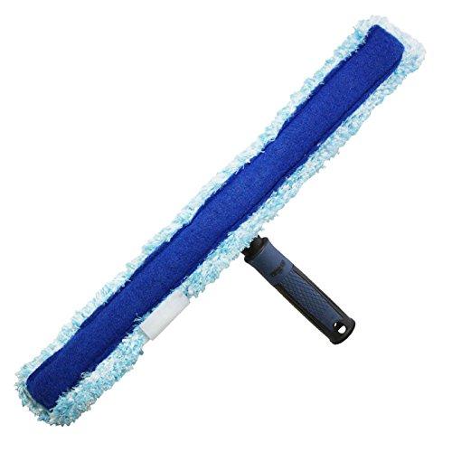 Unger 97552Z Profi, Hochwertiger, waschbarer Mikrofaserbezug und besonders ergonomischer Griff, Integrierte Wasserspeicher-Kammern, Reinigt ohne zu verschmieren, einfaches Einwaschen, Blau, 45 cm