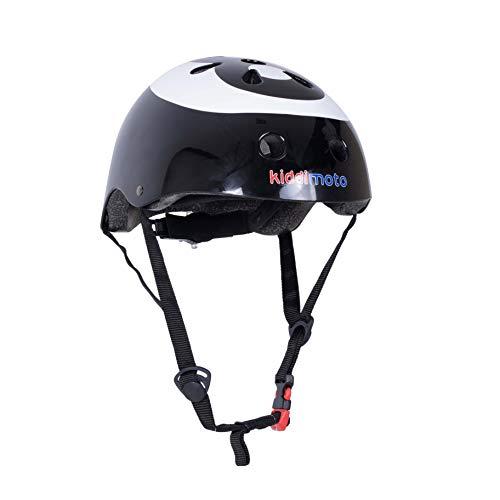 Kiddimoto Fahrrad Helm für Kinder / Fahrradhelm / Design Sport Helm für skates, roller, scooter, laufrad - 8-Ball / Billardkugel - M (53-58cm)
