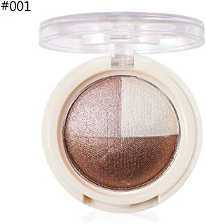 3 Colors Waterproof Blush Makeup Cosmetic Natural Baked Powder Charming Shimmer Nude Make Up Palette