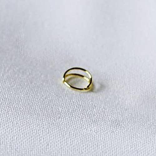 Anillo de nariz de plata de ley 925 con doble círculo para mujeres y niñas, pequeño aro abierto, piercing para cartílago, joyería para el cuerpo (color metal: color dorado, 1 unidad)