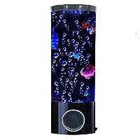 Bubble Fish Lamp - Entspannend - Wenn die Fish Lava Lampe leuchtet, entstehen eine subtile Blase und farbige Lichter. Beobachten Sie, wie farbenfrohe Fische in der Wasserröhre auf und ab schaukeln, ihre mechanischen Schwänze in der Blase schwenken un...