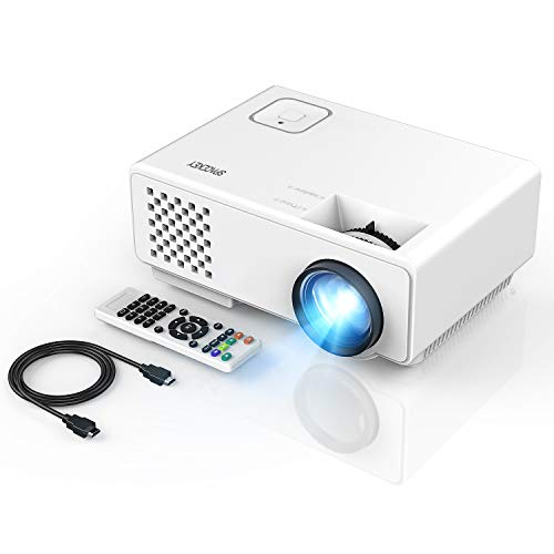 Projector, Spacekey LED Mini Video Projector for Multimedia Home Theater, Supports 1080P, Laptops, Smartphones, Amazon Fire TV Stick & DVDs via HDMI, USB, VGA & AV (RD810)