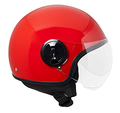 SKA-P Helm demi jet 1WH WOLLI XL (59cm) Rosso metal