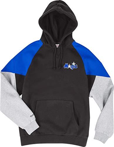 Mitchell & Ness Orlando Magic Black Royal Trading Block Hoody Hoodie Sweater Herren Mens