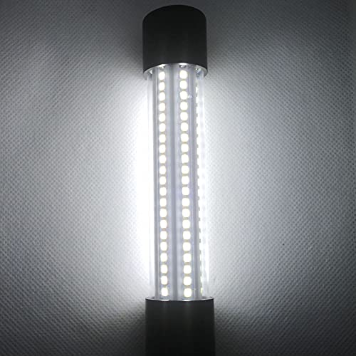 Luz de Pesca Nocturna Sumergible, 12V-24V 20W Luz de Pesca submarina Blanco IP68 Barcos a Prueba Agua Buscador de Peces bajo el Agua Atrae la luz la lámpara con Cable de 5M para Pesca en Hielo