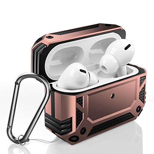 ZADORN Airpods Pro Case,Military Grade Protective Cases for Airpods 3rd Gen with Hard PC and Soft TPU Cover,Shockproof Airpod Pro Case with Keychain Compatible with Wireless Charging Champagne