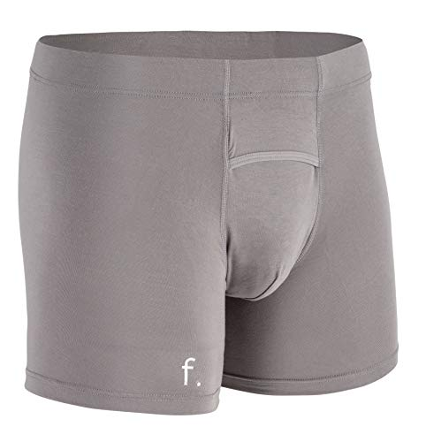 FONZ Anti EMF Radiation Blocking Underwear | Protection from Cell Phone, Wireless, Bluetooth, and 5G Radiation and EMF (Grey, Medium)