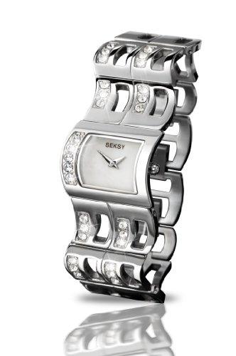 Seksy Wrist Wear By Sekonda Orologio da Polso, Analogico, Donna, Acciaio Inox, Argento
