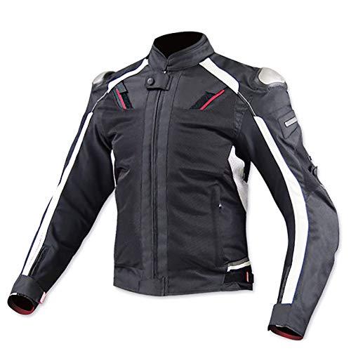 Chaqueta de Moto Motocicleta Armadura Cordura CertificacióN CE Camisetas de Motocicleta AleacióN de Titanio Piloto de Carreras de Motos Traje Resistente A Las CaíDas C,XXXXXL