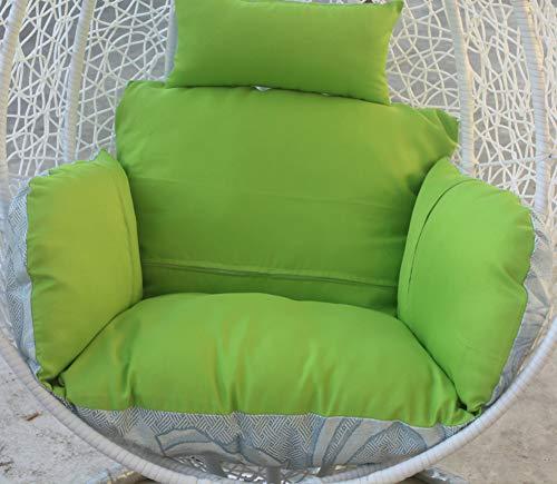 XFXDBT Hängende Korb Stuhl Kissen Verdicken Swing Chair Pads Ohne Ständer Terrasse Eierhängematte Stuhl Kissen Für Außerhalb-Hellgrün Einzelnen