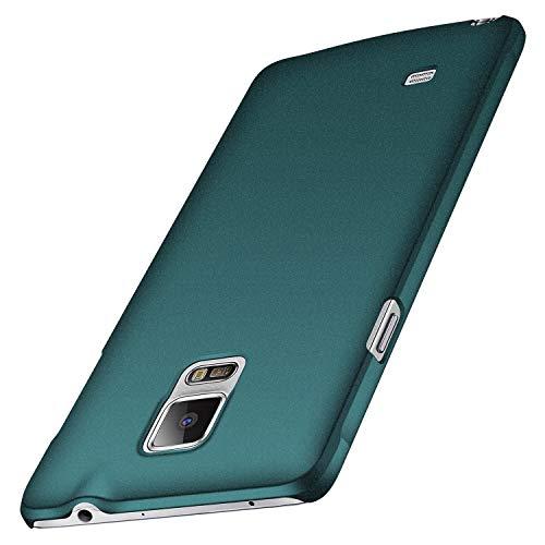 anccer Samsung Galaxy Note 4 Hülle, [Serie Matte] Elastische Schockabsorption & Ultra Thin Design für Samsung Note 4 (Kies Grün)