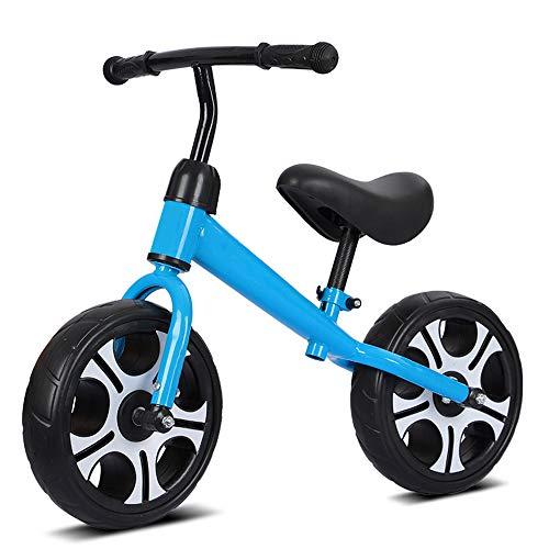 T-XYD Ohne Pedal-Fahrrad 12 Zoll Kinder Gleichgewicht Auto Aluminiumrahmen-Übung Baby-Gehen Gleichgewicht 2-6 Jahre alt,Blau
