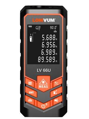 Telemetro Distanziometro Laser 80 M Professionale Misuratore Distanza con Visualizzazione dell\'angolo in tempo reale e Display Retroilluminato, Precisione 1,1mm, Batteria e Custodia Inclusa