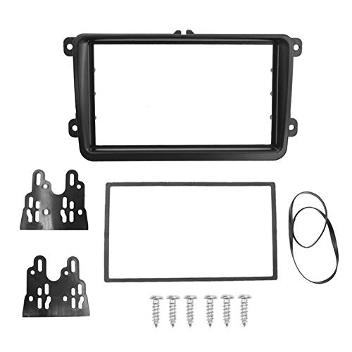 SHOUNAO Double DIN Frame Fit para VW TOURAN Caddy Seat Skoda Fabia Octavia Stereo Radio DVD DVD Kit Trim Adaptador DE Panel Fascia (Size : 178 x 102mm)