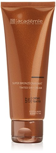 Academie Bronzécran Super Bronzecran Mat Tinted SPF 6 Getönte Gesichtscreme Hell, 75 ml