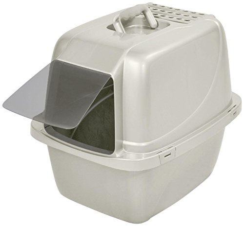 Van Ness Enclosed Pan with Door - White - Large