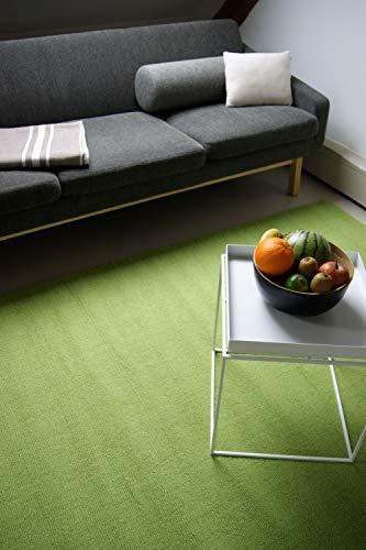 Moderner Designer Wollteppich Loft Lime grün 140x200cm - reine Wolle in leuchtenden modernen Farben