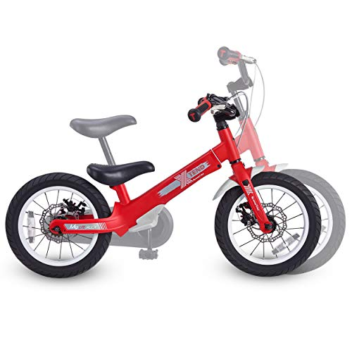 smarTrike Xtend Mg+, 3-in-1 Convertible Kids Bike for Ages 3-6, with Attachable Pedals (Red)
