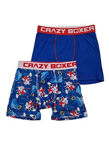 Mens 2-Pack Santa Unicorn Rainbow Whale Christmas Underwear Boxer Briefs XL