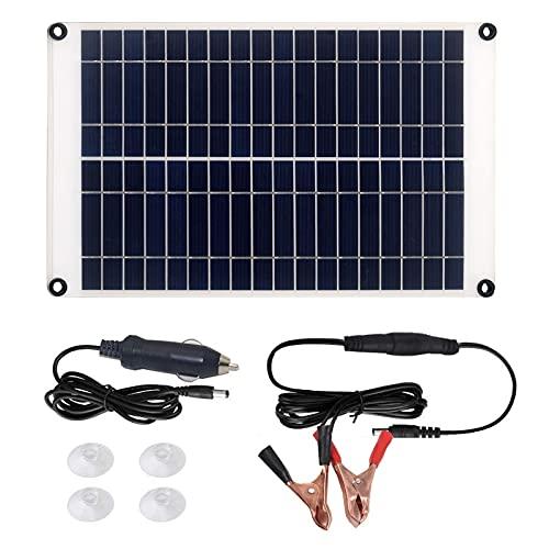 Betop-camp Pannello Solare Portatile 18 Volt 18 Watt Spina accendisigari, Ventose, manutentore per Auto Moto
