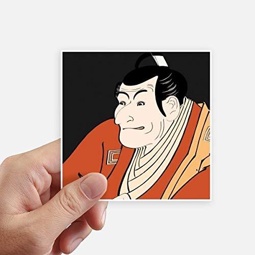DIYthinker Japanse Stijl Ukiyoe Man Kimono Vierkant Stickers 10 Cm Muur Koffer Laptop Motobike Decal 8 Stks