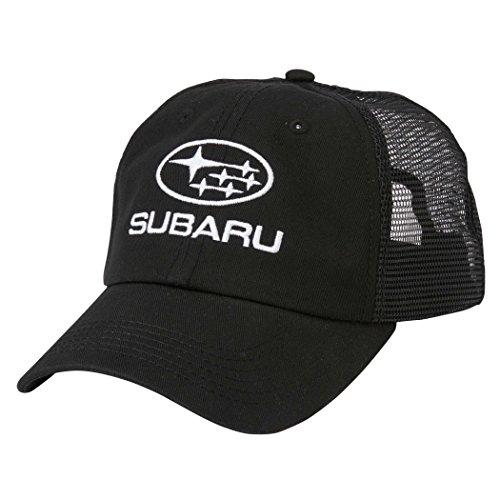 Subaru Black Mesh Back Cap Hat Legacy Forester Impreza Outback Sti WRX Crosstrek