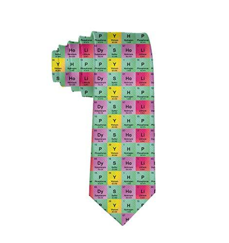 Corbata de tabla periódica para hombre Corbata Corbata de seda Corbatas Corbatas elegantes