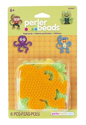 Perler Beads - 4 assorted pegbaords (frog/monkey/octopus/dog) (PRL22647) by Perler